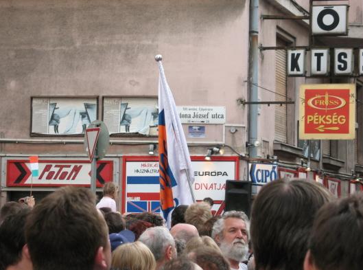 demonstracja antyfaszystowska Budapeszt 11 kwietnia 2008