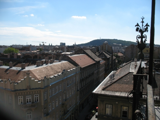 widok z wieży kościoła św. Teresy w Budapeszcie